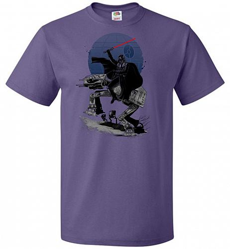 Crossing The Dark Path Unisex T-Shirt Pop Culture Graphic Tee (2XL/Purple) Humor Funn