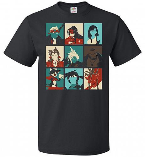 Final Pop Unisex T-Shirt Pop Culture Graphic Tee (L/Black) Humor Funny Nerdy Geeky Sh