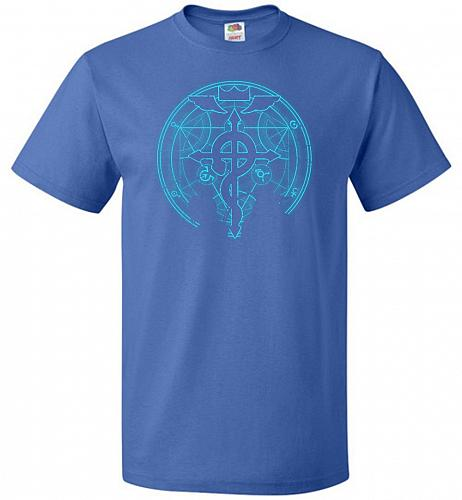 Shadow of Alchemist Unisex T-Shirt Pop Culture Graphic Tee (M/Royal) Humor Funny Nerd