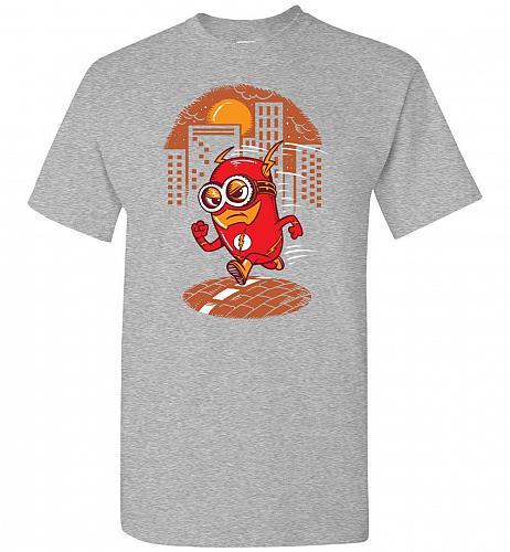Flash Minion Unisex T-Shirt Pop Culture Graphic Tee (M/Sports Grey) Humor Funny Nerdy
