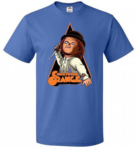 Chuckywork Orange Unisex T-Shirt Pop Culture Graphic Tee (L/Royal) Humor Funny Nerdy