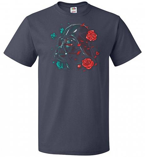 Darkside of the Bloom Unisex T-Shirt Pop Culture Graphic Tee (6XL/J Navy) Humor Funny