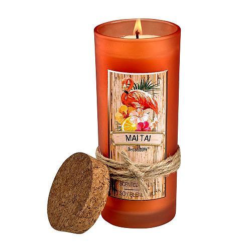 :10869U - Mai Tai Highball Scented Glass Jar Candle