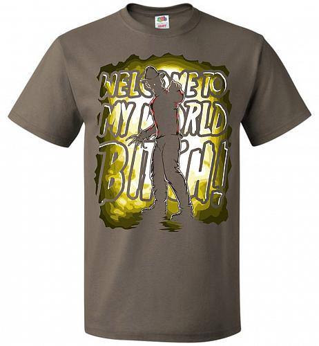 Freddy Krueger Welcome To My World B! Adult Unisex T-Shirt Pop Culture Graphic Tee (L