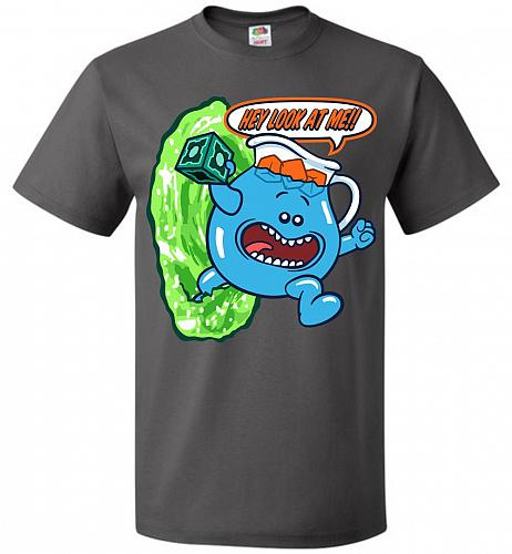 Meseeks Man Unisex T-Shirt Pop Culture Graphic Tee (3XL/Charcoal Grey) Humor Funny Ne