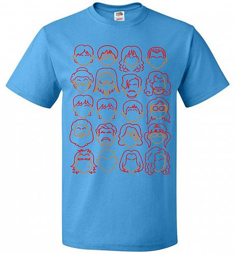 Harry Potter Heads Adult Unisex T-Shirt Pop Culture Graphic Tee (2XL/Pacific Blue) Hu