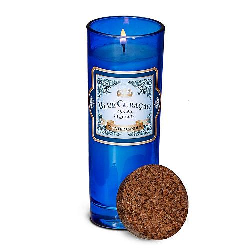 :10889U - Blue Curacao Highball Scented Glass Jar Candle