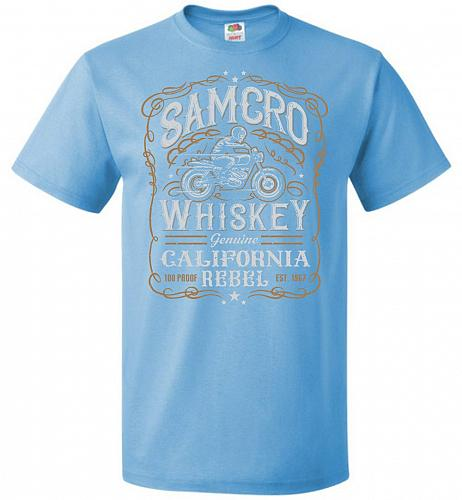Sons of Anarchy Samcro Whiskey Adult Unisex T-Shirt Pop Culture Graphic Tee (6XL/Aqua