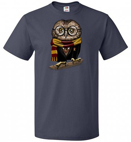 Owly Potter Unisex T-Shirt Pop Culture Graphic Tee (4XL/J Navy) Humor Funny Nerdy Gee