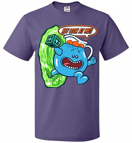 Meseeks Man Unisex T-Shirt Pop Culture Graphic Tee (M/Purple) Humor Funny Nerdy Geeky