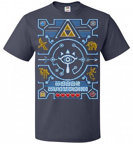 Legend Of Zelda Ugly Sweater Design Adult Unisex T-Shirt Pop Culture Graphic Tee (4XL