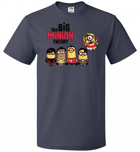 The Big Minion Theory Unisex T-Shirt Pop Culture Graphic Tee (3XL/J Navy) Humor Funny