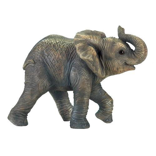 *18250U - Happy Baby Grey Elephant Figure Statue