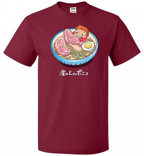 Noodle Swim Unisex T-Shirt Pop Culture Graphic Tee (L/Cardinal) Humor Funny Nerdy Gee
