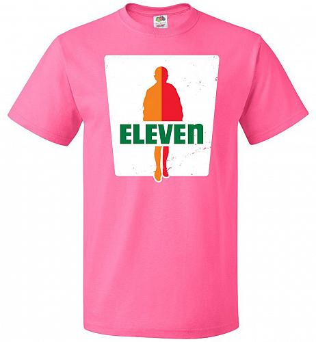 0-Eleven Unisex T-Shirt Pop Culture Graphic Tee (2XL/Neon Pink) Humor Funny Nerdy Gee