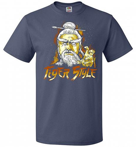 Tiger Style Unisex T-Shirt Pop Culture Graphic Tee (4XL/Denim) Humor Funny Nerdy Geek