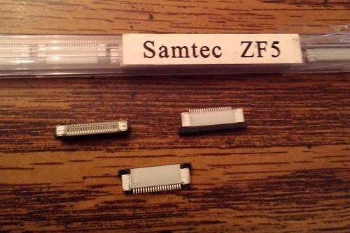 Lots of 39: Samtec ZF5-20-01-T-WT :: FREE Shipping