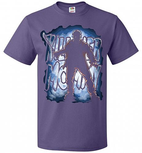 Jason Voorhees Killer Mommy Adult Unisex T-Shirt Pop Culture Graphic Tee (XL/Purple)
