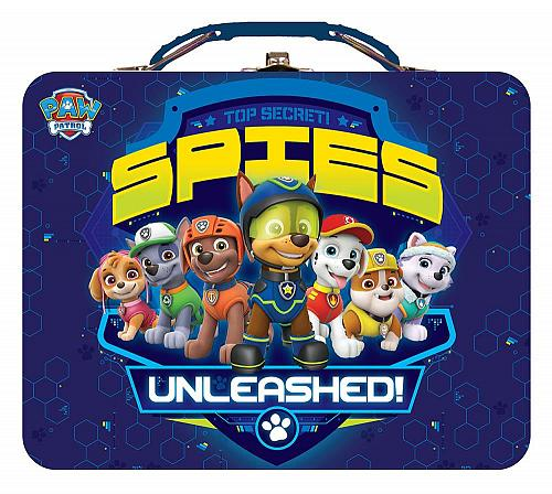 :10835U - Paw Patrol Spies Unleashed Blue Lunch Style Tin Box