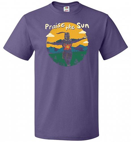 Praise The Sun Unisex T-Shirt Pop Culture Graphic Tee (3XL/Purple) Humor Funny Nerdy