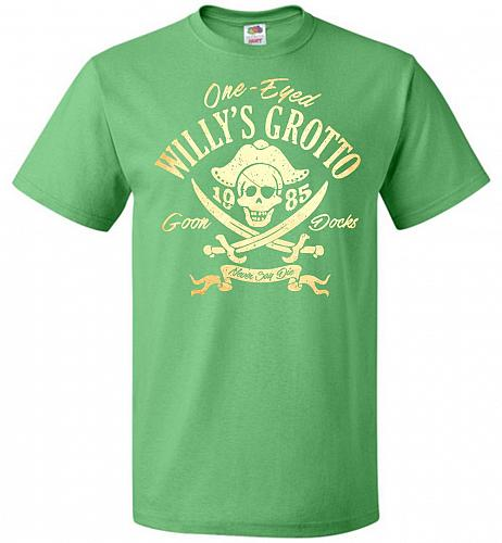 Goonies One-Eye Willy's Grotto Adult Unisex T-Shirt Pop Culture Graphic Tee (XL/Kelly