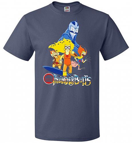 Thunderbutts Unisex T-Shirt Pop Culture Graphic Tee (M/Denim) Humor Funny Nerdy Geeky