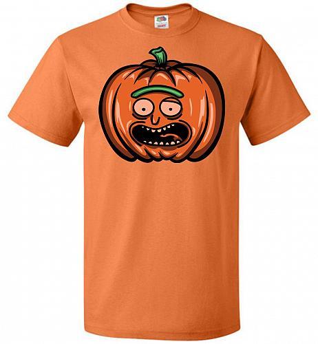 Halloween Pumpkin Rick Adult Unisex T-Shirt Pop Culture Graphic Tee (L/Tennessee Oran
