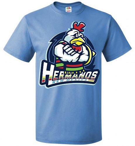 Hermanos New Mexico Unisex T-Shirt Pop Culture Graphic Tee (S/Columbia Blue) Humor Fu