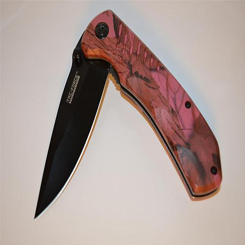 Tac-Force Spring Assisted Pink Camo 764PC Folding Knife