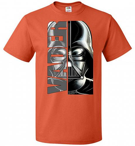 Vader Youth Unisex T-Shirt Pop Culture Graphic Tee (Youth L/Burnt Orange) Humor Funny
