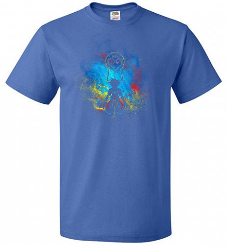 Kingdom Art Unisex T-Shirt Pop Culture Graphic Tee (5XL/Royal) Humor Funny Nerdy Geek