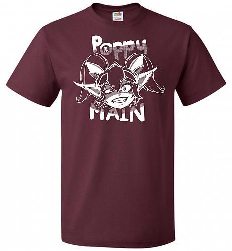 Poppy Main Unisex T-Shirt Pop Culture Graphic Tee (3XL/Maroon) Humor Funny Nerdy Geek