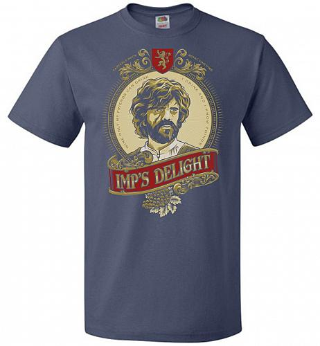 Imp's Delight Unisex T-Shirt Pop Culture Graphic Tee (5XL/Denim) Humor Funny Nerdy Ge