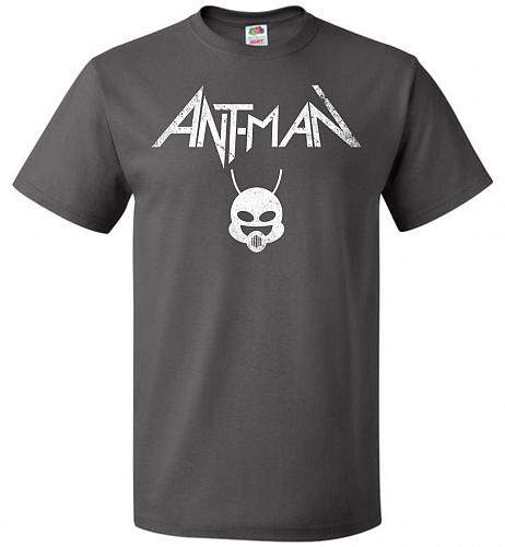 Antman Anthrax Parody Unisex T-Shirt Pop Culture Graphic Tee (4XL/Charcoal Grey) Humo