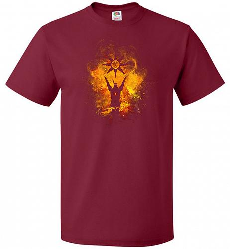 Praise The Sun Art Unisex T-Shirt Pop Culture Graphic Tee (2XL/Cardinal) Humor Funny