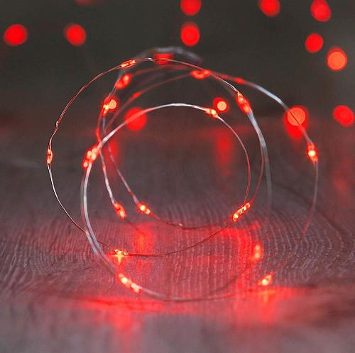 :10843U - 20 LED Copper Wire Red Fairy Lights