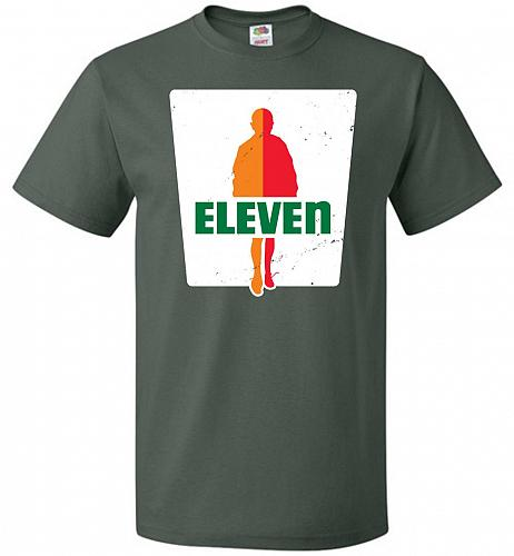0-Eleven Unisex T-Shirt Pop Culture Graphic Tee (6XL/Forest Green) Humor Funny Nerdy