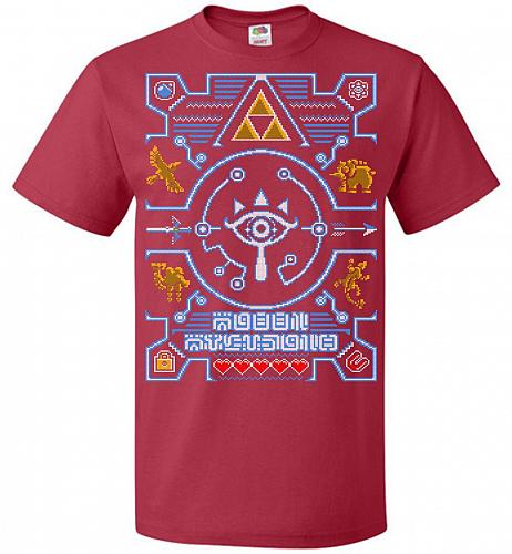 Legend Of Zelda Ugly Sweater Design Adult Unisex T-Shirt Pop Culture Graphic Tee (M/T