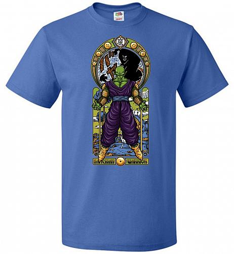 Namekian Warrior Unisex T-Shirt Pop Culture Graphic Tee (4XL/Royal) Humor Funny Nerdy
