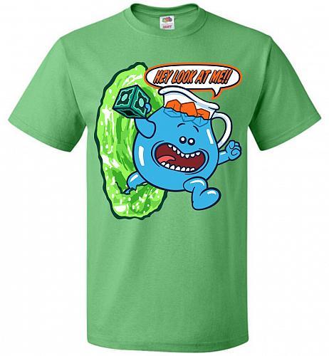 Meseeks Man Unisex T-Shirt Pop Culture Graphic Tee (6XL/Kelly) Humor Funny Nerdy Geek