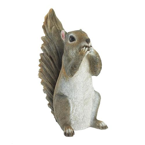 *18249U - Speak No Evil Grey Squirrel Figure Garden Statue