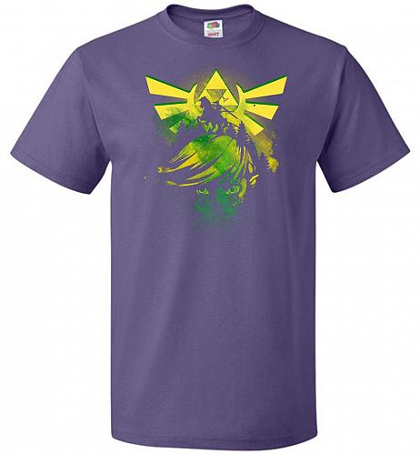 Hero of Time Unisex T-Shirt Pop Culture Graphic Tee (3XL/Purple) Humor Funny Nerdy Ge