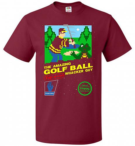 Happy Golf Nintendo Parody Cover Adult Unisex T-Shirt Pop Culture Graphic Tee (2XL/Ca