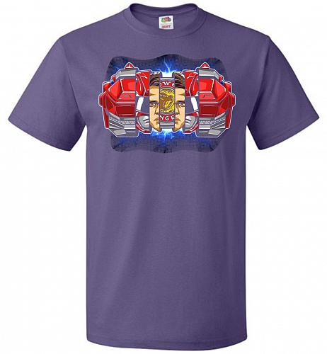 Red Ranger Unisex T-Shirt Pop Culture Graphic Tee (5XL/Purple) Humor Funny Nerdy Geek