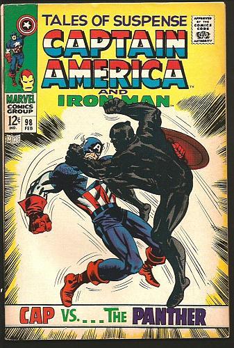 Tales of Suspense #98 BLACK PANTHER Captain America & Iron Man Marvel Comics1968
