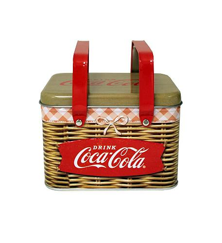 :10595U - Coke Coca-Cola Retro Steel Picnic Basket