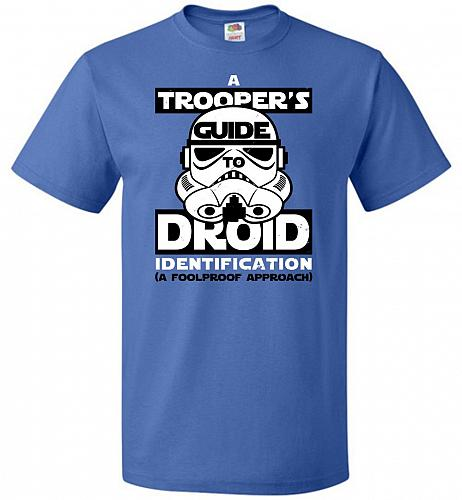 A Trooper's GuideTo Droid Identification Unisex T-Shirt Pop Culture Graphic Tee (3XL/