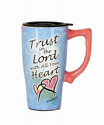 :10731U - Trust In The Lord Ceramic 16oz Travel Mug
