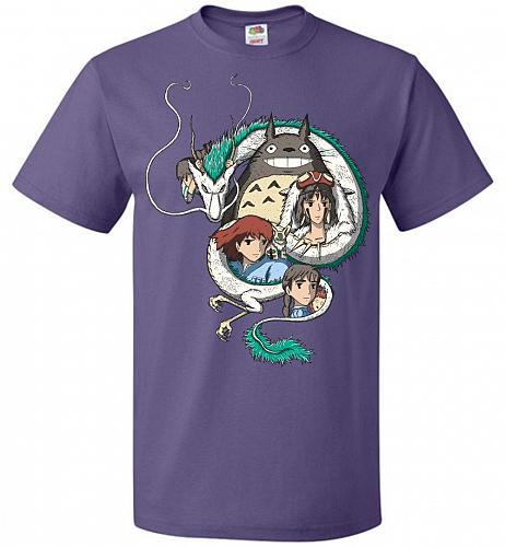 Ghibli Unisex T-Shirt Pop Culture Graphic Tee (4XL/Purple) Humor Funny Nerdy Geeky Sh
