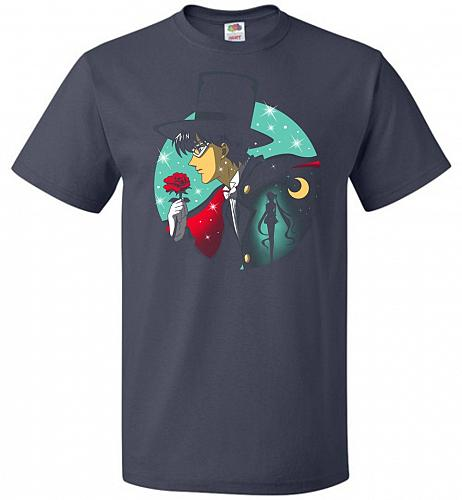 Knight Of The Moonlight Unisex T-Shirt Pop Culture Graphic Tee (XL/J Navy) Humor Funn